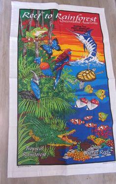 Port Douglas Australia Queensland Reef Rain Forest Tea Dish Towel New Souvenir
