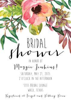 Bridal Shower Invitation_Digital File