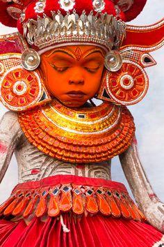 Theyyam Ritual, North Malabar, Kerala, India #world #cultures