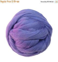 SALE Merino / Silk Roving, (Lilac)