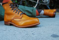 """Wolverine 1000 Mile - Addison Boot in Tan Sported by, """"The Bearded Man,"""" Ouigi Theodore"""