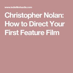The red hot screenplay blueprint 10 screenplay elements of films christopher nolan how to direct your first feature film malvernweather Image collections
