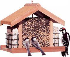 Perky-Pet 50144 Deluxe Chalet Cedar Feeder, 5.2-Pound Capacity