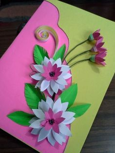 Holiday Crafts For Kids Spring Crafts For Kids Christmas Crafts Art For Kids Butterfly Crafts Flower Crafts Classroom Art Projects Art Folder Newspaper Crafts Valentine Crafts For Kids, Spring Crafts For Kids, Mothers Day Crafts, Flower Cards, Paper Flowers, Diy Mother's Day Crafts, Newspaper Crafts, Birthday Cards, Diy Birthday