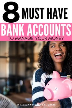 Learn the 8 must have bank accounts that you need to manage your money. Learn how to organize your money better, save money, budget, and get out of debt. Budgeting Finances, Budgeting Tips, Finanz App, Sinking Funds, Savings Planner, Thing 1, Budget Planer, Managing Your Money, Bank Account
