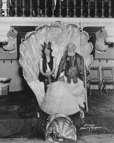 Couple in Shell Throne
