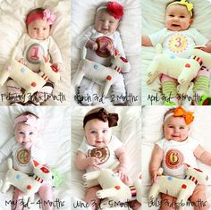 Great idea to see how much your baby has grown :)