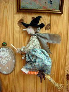 Сестра ведьмочки - ведьмочка,панно,Декор,декор для интерьера,подарок,кукла