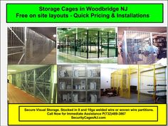 Security Cages Bayonne NJ Welded wire partition security cages in Bayonne. Mercer County, Powder Coat Colors, New York City Ny, Wood Bridge, Cage, Warehouse, Locker Storage, Layouts, Nyc