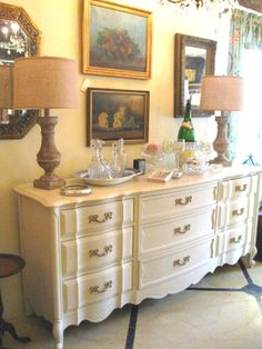 Vintage Chest painted with Chalk Paint® Decorative Paint by Annie Sloan in Old Ochre