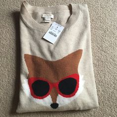 J.crew Factory intarsia fox sweater NWT. No trade. Seriously buyer only. J. Crew Sweaters