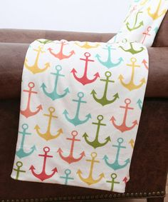 Look what I found on #zulily! Anchors & Zigzags Microplush Throw by THRO #zulilyfinds