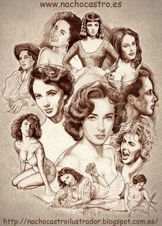 """Elizabeth Taylor in the book """"Women of Hollywood"""" by Nacho Castro"""