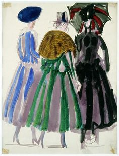 Raoul Dufy sketeches for Paul Poiret (french fashion designer)  1920
