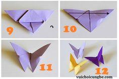 Gấp hình con bướm bằng giấy_bước 3