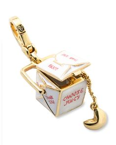 Chinese Takeout and Fortune Cookie Juicy Couture Charm. I'm the Princess of Chinese takeout. Pandora Bracelet Charms, Pandora Jewelry, Charm Jewelry, Charm Bracelets, Chinese Takeout Box, Chinese Food, Juicy Couture Charms, Cute Keychain, Cute Charms