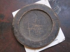 Antique 18thC Colonial Wooden Plates Family Signed AAFA Treen ...