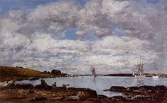 Eugène Boudin - Baie de Kerhor, estuaire de Landerneau (1872)
