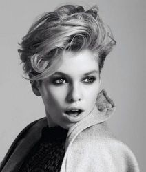Stella Maxwell van Markus Ziegler in Color Pop for Fashion Gone Rogue Print Source by Pixie Crop, Long Pixie, Pixie Haircut, Celebrity Hairstyles, Hairstyles Haircuts, Cool Hairstyles, Stella Maxwell, Haircut For Older Women, Great Hair
