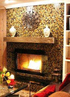 A fireplace hearth after elegant its transformation with Susan