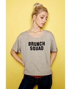 Brunch Squad Flowy Tee Boyfriend Tee, T Shirts For Women, Tees, Squad, Brunch, Collection, Fashion, T Shirts, Moda