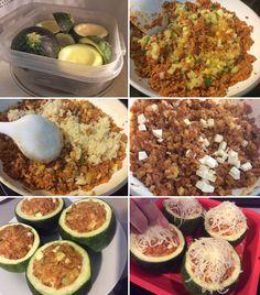 calabacines paso a paso Calabacines rellenos de arroz y boloñesa