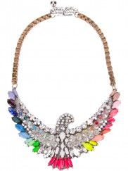 PHOENIX RAINBOW SWAROVSKI CRYSTAL NECKLACE