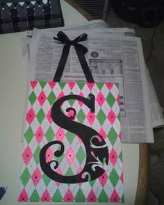 For Shannon :) Initial on canvas using acrylics