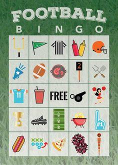 Free Printable Football Bingo Game – The Shirley Journey - Entertainment
