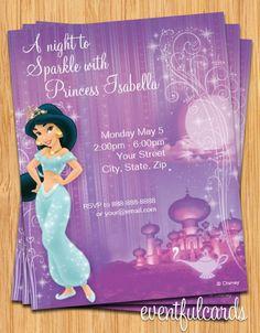 Eventful Cards   Jasmine Birthday Party Invitation  (http://www.eventfulcards.