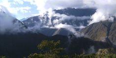 Morning mist at Machu Picchu.