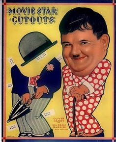 Oliver Hardy Movie Star Cutouts paper doll / eBay