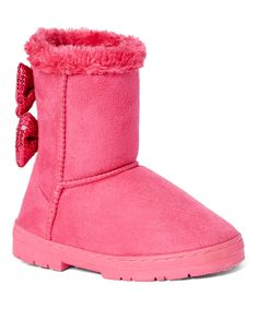 Look at this #zulilyfind! Chatz by Chatties Fuchsia Bow-Embellished Boot - Toddler & Girls by Chatz by Chatties #zulilyfinds