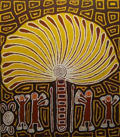 Linda Syddick Napaltjarri ~ The Witch Doctor and the Windmill