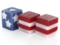 Learn to make these festive stars and stripes candles for the of July! Buy Candles, Unique Candles, Pillar Candles, Expensive Candles, Carved Candles, Candle Containers, Candle Jars, Candle Making Business, Star Candle