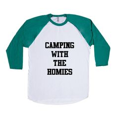 Camping With The Homies Friends Friend Hanging Out Camp Camps Outdoors Nature Hiking Tents Fire SGAL5 Baseball Longsleeve Tee