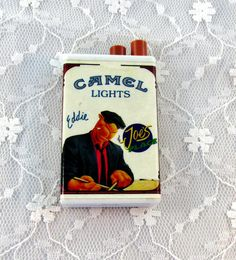 Vintage Camel Lighter Match Striker Says by SunburyVintageStore Things To Buy, Old Things, Stuff To Buy, Cigarette Box, Enamel Paint, Out Of Style, Man, Camel, Lights
