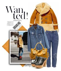 """""""Shearling Coat & Clogs"""" by queenvirgo on Polyvore featuring Topshop, Kelsi Dagger Brooklyn, women's clothing, women's fashion, women, female, woman, misses and juniors"""