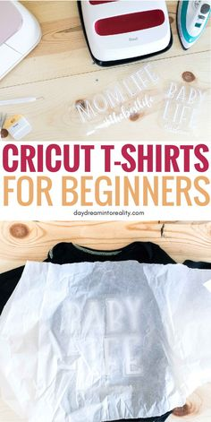 How to make T-Shirts with your Cricut Using Iron OnToday you will learn, from start to finish, how to make custom T-shirts with your Cricut Maker or Explore. One of the biggest reasons people, Cricut Air 2, Cricut Help, Cricut Vinyl, Making Shirts, How To Make Tshirts, Make Custom Shirts, Circuit Projects, Diy Projects, Sewing Projects