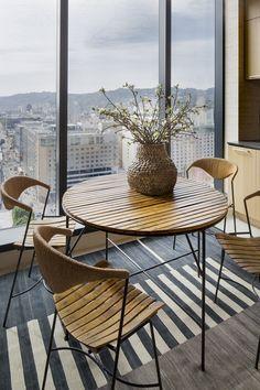KELLY WEARSTLER | INTERIORS. Kitchen Detail, Hollywood Proper Residences  Penthouse. Kitchen Seating,
