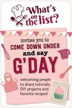 What's on the List Say G'day Linky Party -- join the fun! :) @MickeyDownUnder