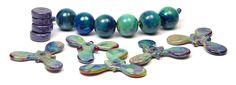 JillSymons.com Lampwork Silvered Glass Beads Set 1 - $100