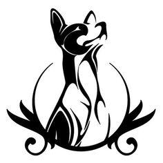 "Original Custom Tribal Basenji Dog Crest 6-22"" square - Many Colors   eBay"