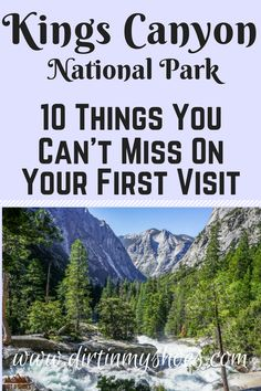 Kings Canyon National Park is one of the most beautiful places in California, and should be on everybody's bucket lists! Planning an itinerary for your family vacation can be a challenge though, that's why I'm sharing this list of 10 things to do on your California National Parks, Us National Parks, California Travel, California Honeymoon, Checklist Camping, Camping Essentials, Camping Ideas, Yosemite Sequoia, New Orleans