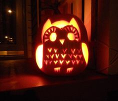 Pumpkin carving ideas: Owl