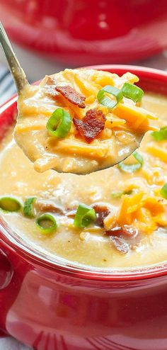 Slow Cooker Sweet Potato and Cauliflower Soup... always a hit!