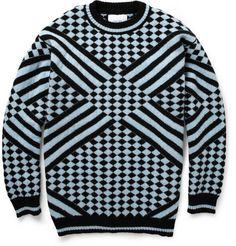 Sibling Check and Striped Wool Sweater | MR PORTER