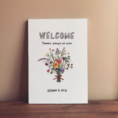 【結婚式DIY】おしゃれな刺繍のウェルカムボードデザイン12... Wedding Welcome Board, Welcome Boards, Wedding Kimono, Wedding Illustration, Good Vibes Only, Letterpress, Wedding Cards, Wedding Colors, Cute Pictures