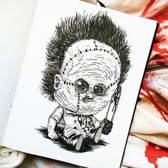 Chicago-based illustrator Alex Solis ( previously ), has created this incredible illustration series that features famous monsters and other terrifying characters from horror movies and tales as babies. Michael Myers, Freddy Krueger, Chucky, Scary Movies, Horror Movies, Scary Characters, Horror Villains, Hannibal Lecter, Beetlejuice