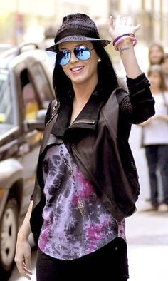 Katy Perry in the VEDA Max jacket